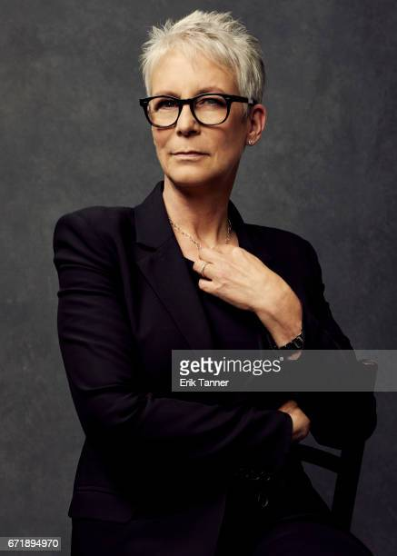 Actress Jamie Lee Curtis from 'Hondros' poses at the 2017 Tribeca Film Festival portrait studio on April 21 2017 in New York City