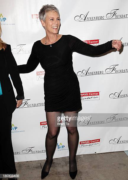 Actress Jamie Lee Curtis hosts the Annenberg Foundation's 3rd annual Alchemy Peer To Peer benefit at Club Nokia on October 25 2011 in Los Angeles...