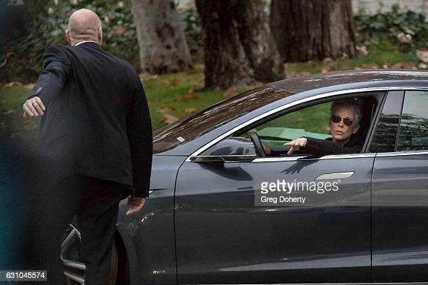 Actress Jamie Lee Curtis leaves the private memorial at the former residence of actress Carrie Fisher January 5 2017 in Beverly Hills California...
