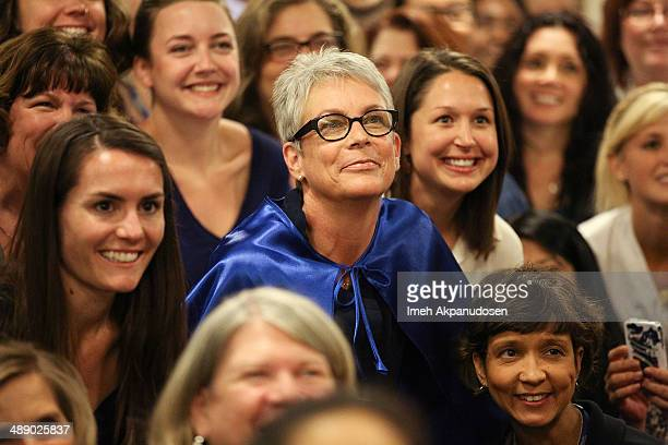 Actress Jamie Lee Curtis poses with nurses at the 2014 Nursing Excellence Awards Luncheon at Childrens Hospital Of Los Angeles on May 9 2014 in Los...