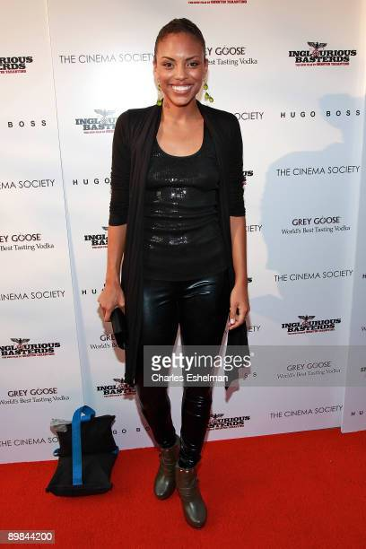 Actress Jamie Lee Kirchner attends a screening of Inglourious Basterds hosted by the Cinema Society Hugo Boss at the SVA Theater on August 17 2009 in...