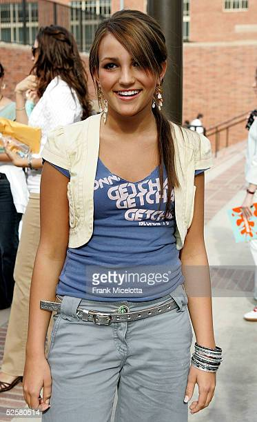 Actress Jamie Lynn Spears arrives at the 18th Annual Kids Choice Awards at UCLA's Pauley Pavillion on April 2 2005 in Westwood California