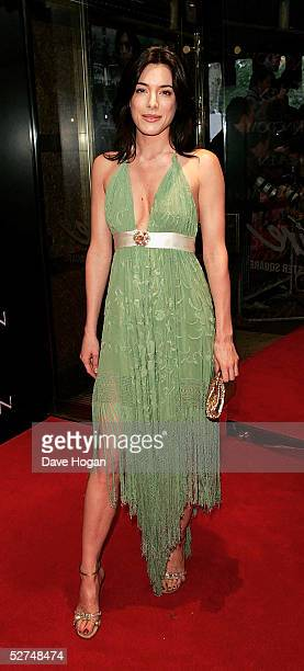 """Actress Jamie Murray arrives at the European Premiere of """"Kingdom of Heaven"""" at the Empire Leicester Square on May 2, 2005 in London, England."""