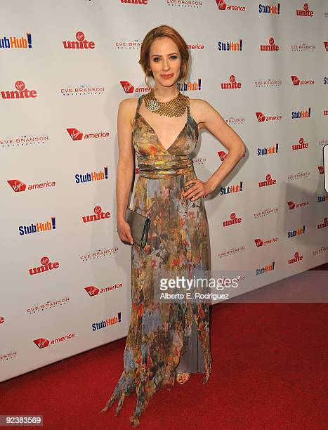 Actress Jamie Ray Newman arrives at the Rock the Kasbah event hosted by Sir Richard Branson and Eve Branson on October 26 2009 in Los Angeles...