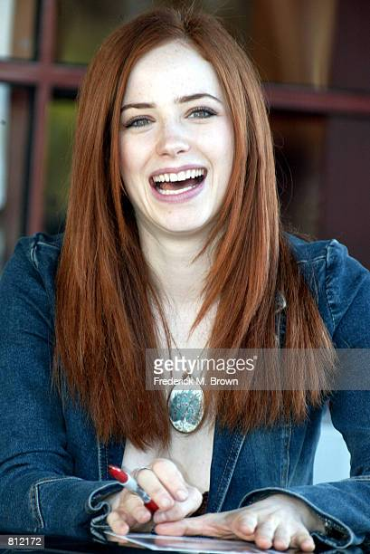 Actress Jamie Ray Newman attends the ABC Super Soap Weekend at Disney's California Adventure April 21 2002 in Anaheim CA Stars from the television...