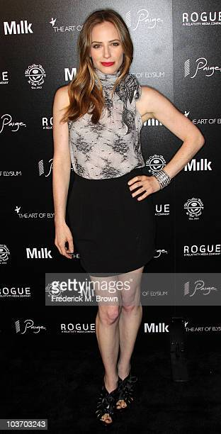 Actress Jamie Ray Newman attends the Art of Elysium's second annual Genesis event at the Milk Studios on August 28 2010 in Hollywood California