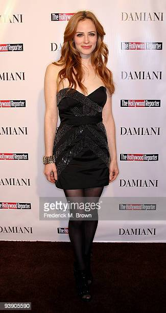Actress Jamie Ray Newman attends the Damiani Diamonds The Hollywood Reporter Power 100 Women in Entertainment on December 3 2009 in Beverly Hills...
