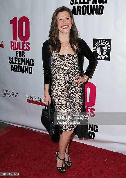 Actress Jamie Renee Smith attends the Los Angeles Premiere of 10 Rules For Sleeping Around at the Egyptian Theatre on April 1 2014 in Hollywood...