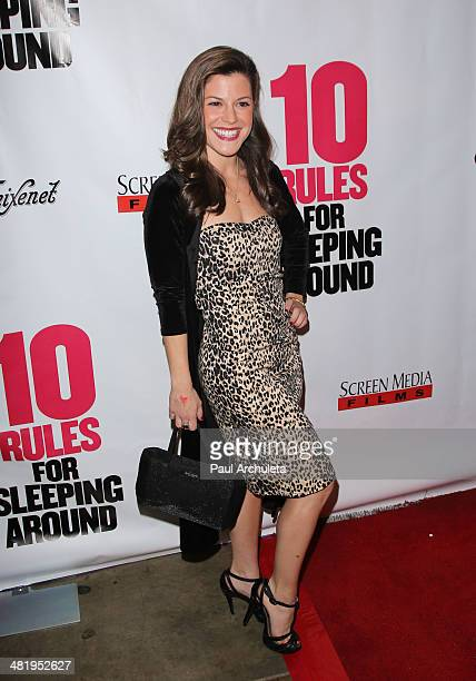 Actress Jamie Renee Smith attends the premiere for 10 Rules For Sleeping Around at the Egyptian Theatre on April 1 2014 in Hollywood California