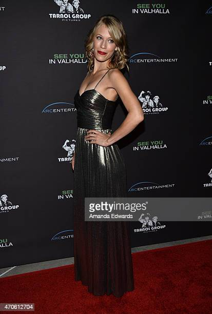 """Actress Jamie Wozny arrives at the Los Angeles premiere of """"See You In Valhalla"""" at the ArcLight Cinemas on April 21, 2015 in Hollywood, California."""