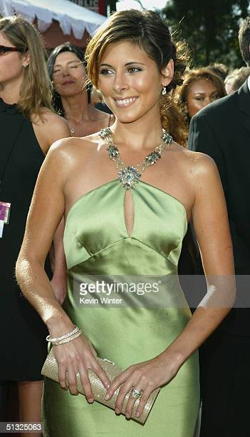 Actress JamieLynn DiScala of 'The Sopranos'attends the 56th Annual Primetime Emmy Awards at the Shrine Auditorium September 19 2004 in Los Angeles...