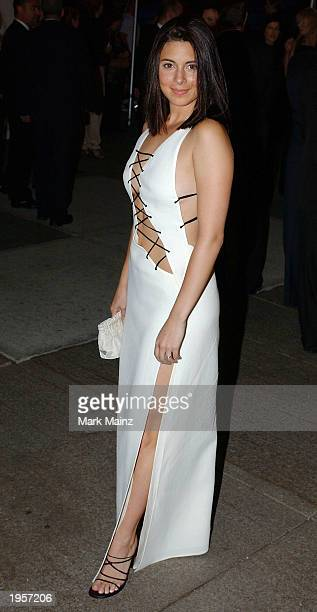 Actress JamieLynn Siegler arrives for 'Goddess Costume Institute Benefit Gala' at the Metropolitan Museum of Art April 28 2003 in New York City