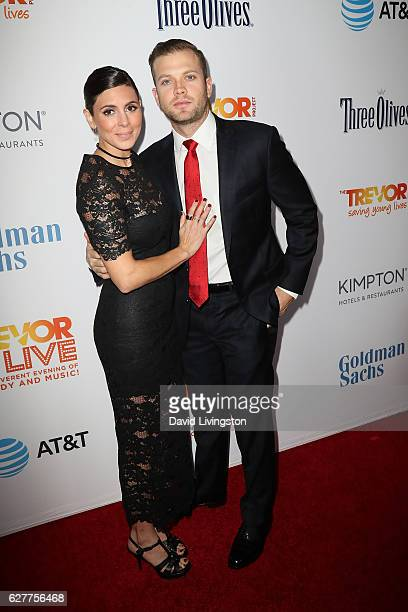 Actress JamieLynn Sigler and Cutter Dykstra arrive at the TrevorLIVE Los Angeles 2016 Fundraiser at The Beverly Hilton Hotel on December 4 2016 in...