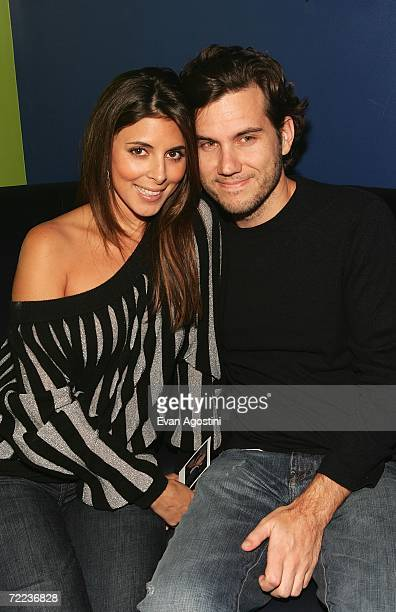 Actress JamieLynn Sigler and her boyfriend nightclub owner Scott Sariano pose at the Afterglow party during the Mohegan Sun 10th Anniversary...