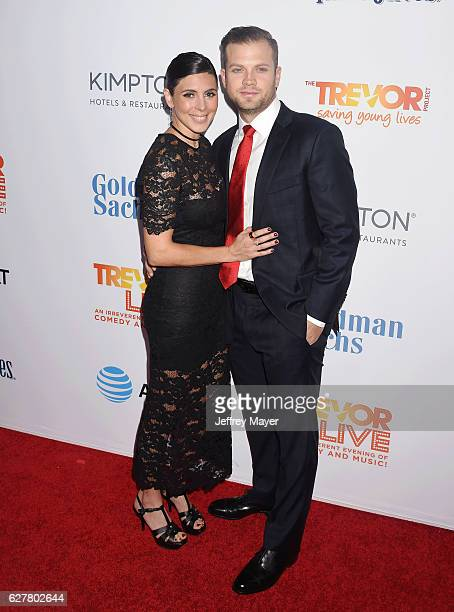 Actress JamieLynn Sigler and MLB player Cutter Dykstra attend the TrevorLIVE Los Angeles 2016 Fundraiser at the Beverly Hilton Hotel on December 04...