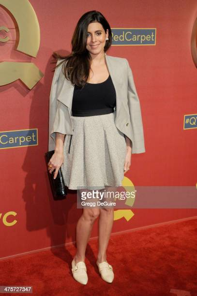 Actress JamieLynn Sigler arrives at the QVC 5th Annual Red Carpet Style event at The Four Seasons Hotel on February 28 2014 in Beverly Hills...