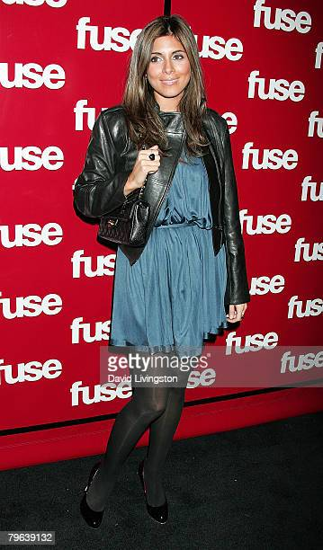 Actress JamieLynn Sigler attends Fuse TV's Grammy party at GOA on February 7 2008 in Hollywood California