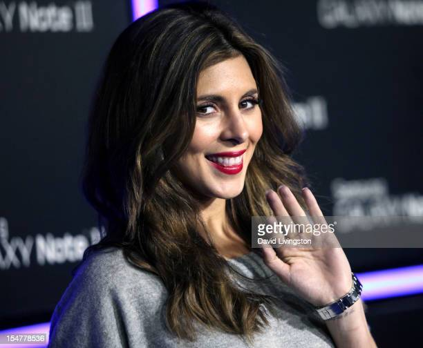 Actress JamieLynn Sigler attends Samsung Mobile's celebration of the launch of the Samsung Galaxy Note II at a private residence on October 25 2012...