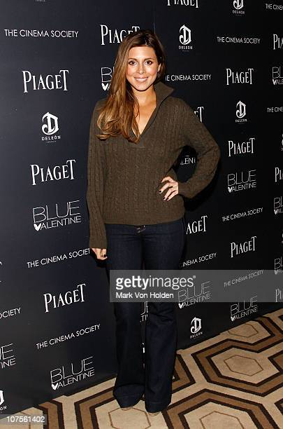 Actress JamieLynn Sigler attends the Cinema Society Piaget screening of Blue Valentine at theTribeca Grand Hotel on December 13 2010 in New York City