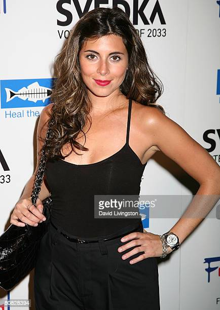 Actress JamieLynn Sigler attends the Svedka Vodka Heal The Bay event at Fred Segal Fun on April 22 2008 in Santa Monica California