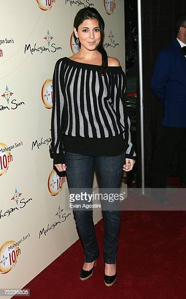 Actress JamieLynn Sigler poses at the Afterglow party during the Mohegan Sun 10th Anniversary celebration at Ultra 88 Mohegan After Dark at Mohegan...