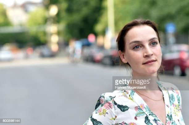 Actress Jana Klinge attends the 'Fuehlen Sie sich manchmal ausgebrannt und leer' Premiere during Munich Film Festival 2017 at Arri Kino on June 24...