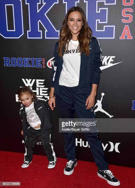 Actress Jana Kramer and daughter Jolie Rae Caussin attend ROOKIE USA Fashion Show at Milk Studios on February 15 2018 in Los Angeles California
