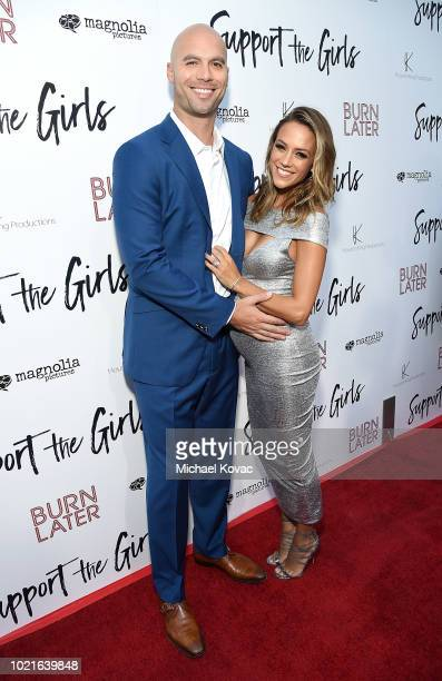 Actress Jana Kramer and Mike Caussin attend the Los Angeles Premiere of Support The Girls on August 22, 2018 in Los Angeles, California.