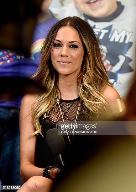 Actress Jana Kramer attends Westwood One Presents #WWOBackstage @ 51st ACMs at MGM Grand Garden Arena on April 1 2016 in Las Vegas Nevada