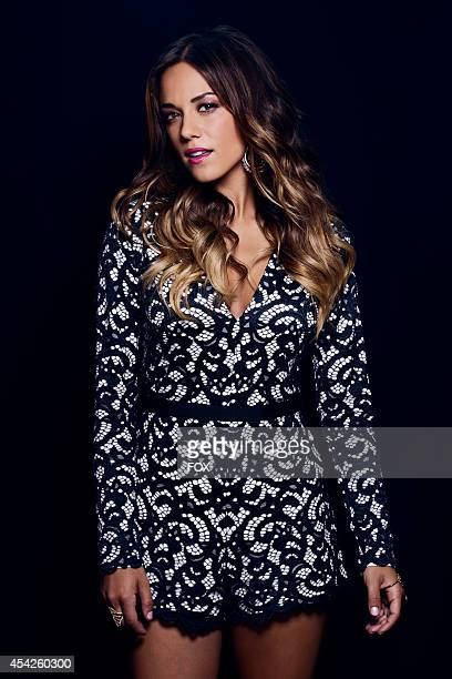 Actress Jana Kramer is photographed at the Fox 2014 Teen Choice Awards at The Shrine Auditorium on August 10 2014 in Los Angeles California