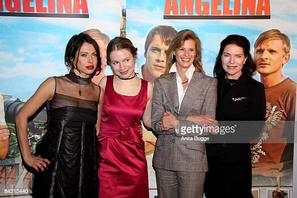 ": Actress Jana Pallaske, actress Anna Brueggemann, actress Leslie Malton and actress Gudrun Landgrebe attend the ""Waiting for Angelina"" Germany..."