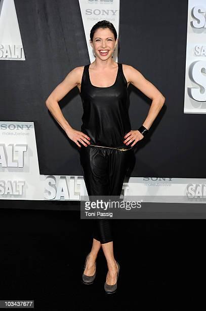 Actress Jana Pallaske attends the german premiere of 'Salt' at Cinema Cine Star Potsdamer Platz on August 18 2010 in Berlin Germany