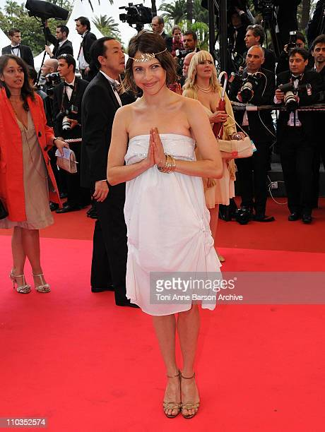 Actress Jana Pallaske attends the Un Conte de Noel premiere at the Grand Theatre Lumiere during the 61st Cannes International Film Festival on May 16...