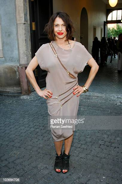 Actress Jana Pallaske attends the 'World Of Calvin Klein' during the Mercedes Benz Fashion Week Spring/Summer 2011 at Die Muenze on July 7 2010 in...