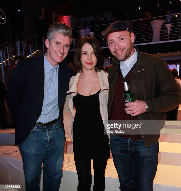 Actress Jana Pallaske Fred Perry head of marketing Richard Martin and Fred Perry head of sales Richard Walshe attend the Musikexpress Style Award at...