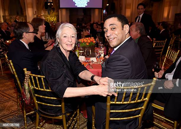 Actress Jane Alexander and actor Harry Lennix attend The 2015 National Audubon Society Gala Dinner at The Plaza Hotel on March 31, 2015 in New York...