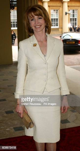 Actress Jane Asher arrives at reception held at Buckingham Palace where celebrities writers sports stars academics and business highflyers were among...