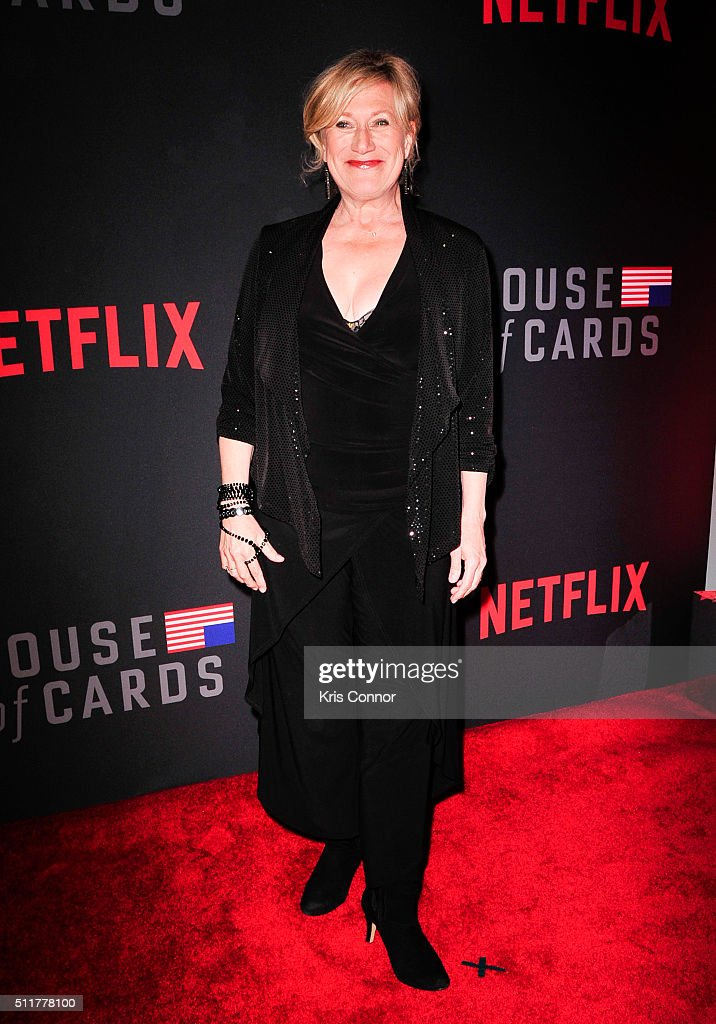 Actress Jane Atkinson attends the 'House Of Cards' Season 4 Premiere at the National Portrait Gallery on February 22, 2016 in Washington, DC.