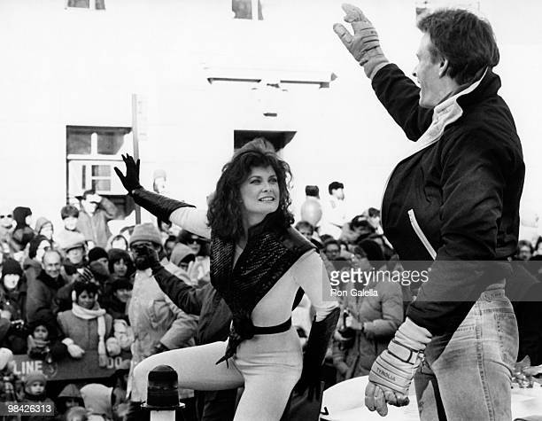 Actress Jane Badler and actor Marc Singer attend 58th Annual Thanksgiving Day Parade on November 22 1984 in New York City
