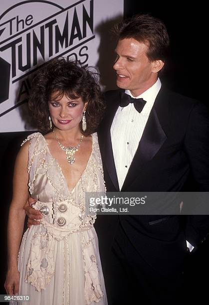 Actress Jane Badler and actor Marc Singer attend First Annual Stuntman Awards on February 2 1985 at KTLA Studios in Los Angeles California