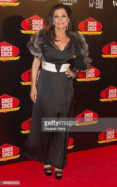 Actress Jane Badler attends 'De chica en chica' premiere at Palafox cinema on September 24 2015 in Madrid Spain