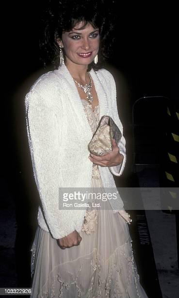 Actress Jane Badler attends First Annual Stuntman Awards on February 2 1985 at KTLA Studios in Los Angeles California
