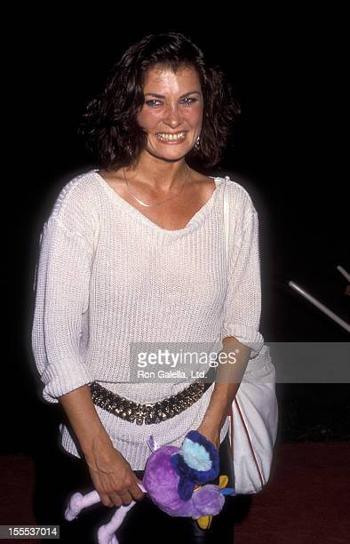 Actress Jane Badler attends NBC TV Affiliates Party on May 20 1984 at NBC Studios in Burbank California