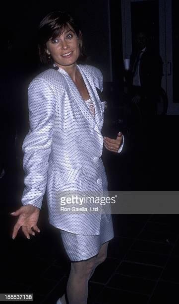 Actress Jane Badler attends the premiere of Bird on October 13 1988 at AMC 14 Theater in Los Angeles California