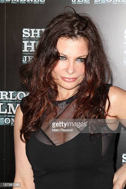 Actress Jane Badler attends the 'Sherlock Holmes 2 Games Of Shadows' photocall at Le Grand Rex on January 19 2012 in Paris France