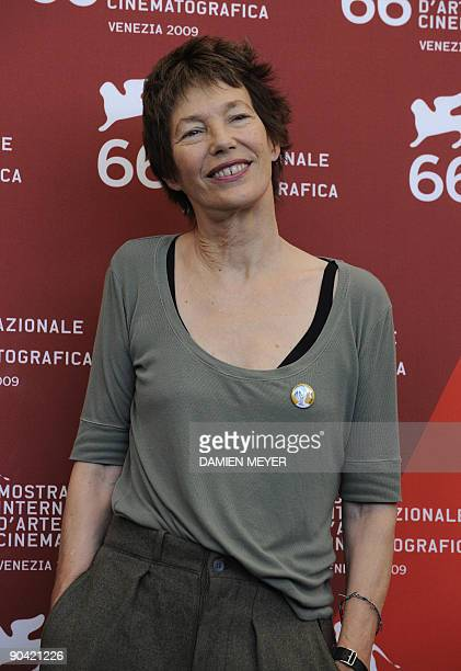 """Actress Jane Birkin poses during the photocall of """"36 vues du Pic Saint Loup"""" during the Venice film festival on September 7, 2009. """"36 vues du Pic..."""
