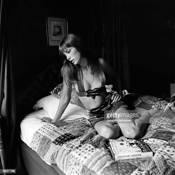 Actress Jane Birkin who lived with Serge Gainsbourg in the Latin Quarter of Paris