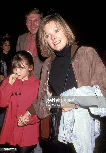 Actress Jane Curtin and daughter Tess Lynch attend the 'Big Apple Circus' on October 25 1991 at Lincoln Center in New York City New York