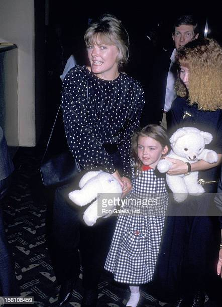 Actress Jane Curtin and daughter Tess Lynch attend the 'Moscow Circus Opening Night Show' on September 15 1988 at Radio City Music Hall in New York...
