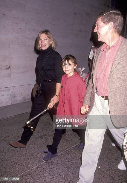 Actress Jane Curtin Patrick Lynch and daughter Tess Lynch attend the 'Big Apple Circus' on October 25 1991 at Lincoln Center in New York City New York